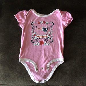 Pink Patriot's onesie
